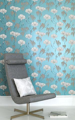 weinlese blumen tapete. Black Bedroom Furniture Sets. Home Design Ideas
